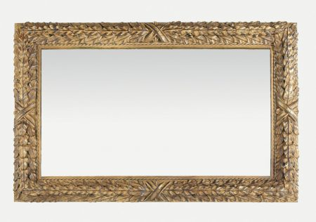 Bayleaf mirror - rectangular - Antique