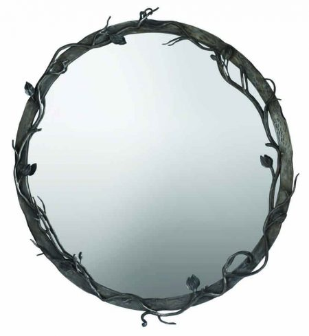 Forged leaf mirror - circular