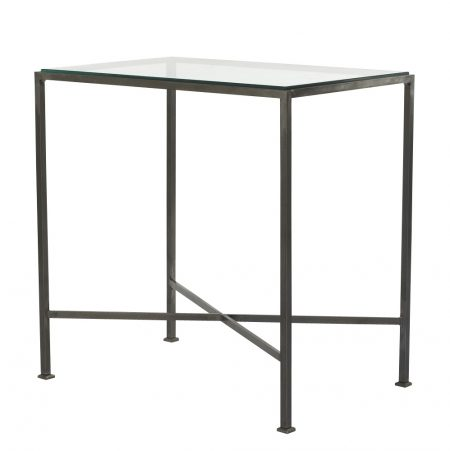 Outline side table with 'X' frame - Gunmetal