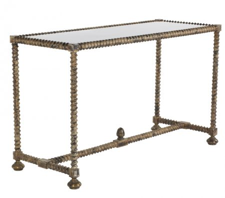 Twisted leg console table - Antique