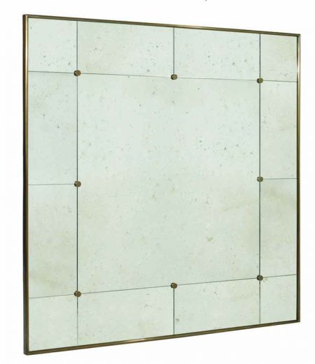 Vintage 3 mirror - Antique brass with Antique mirror