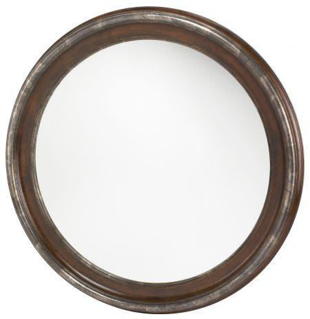 mirror tondo walnut silver