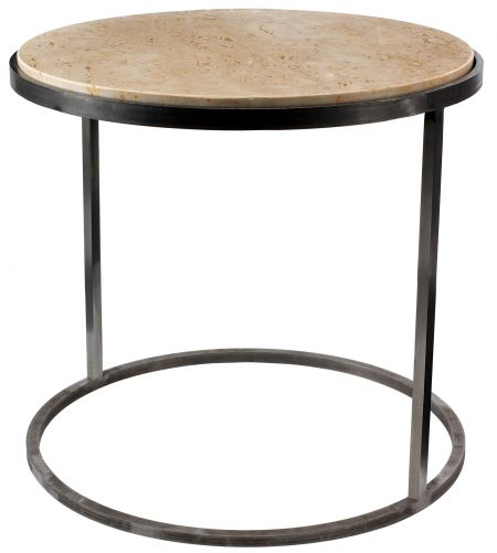 outline circular side table