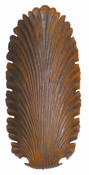 Cast bronze leaf wall light