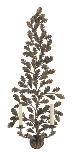 Oak Branch wall light - 2 Arm - extra tall