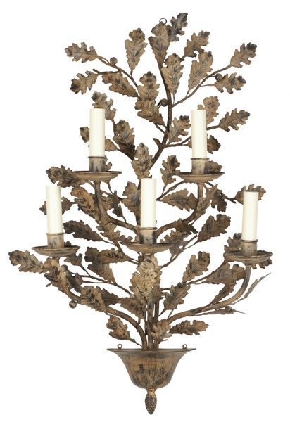 Oak branch wall light - 5 Arms