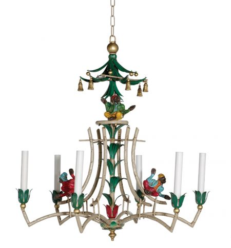 Bamboo and Monkey chandelier