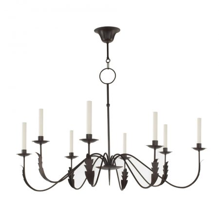 Naive chandelier - 8 arm - Waxed rust