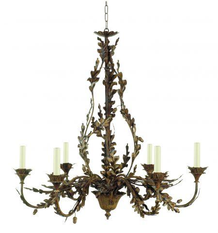 Oakleaf and acorn chandelier - 6 arm