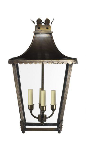 regency lantern in antique brass