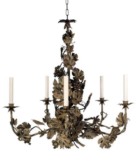 vine leaf chandelier antique