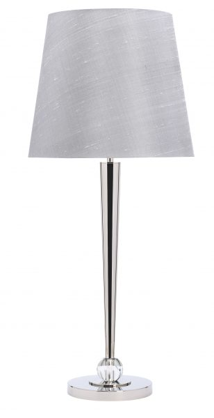 tivoli nickel and crystal table lamp with shade